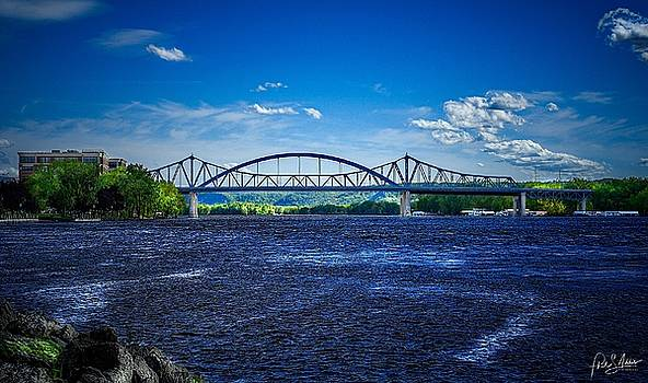 Deep Blue On The Mississippi  by Phil S Addis