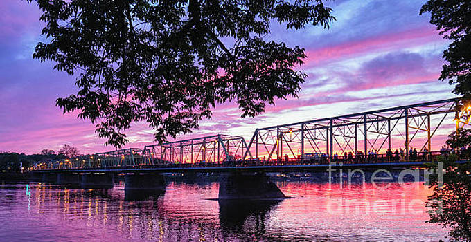 Delaware River Bridge at Sunset by George Oze