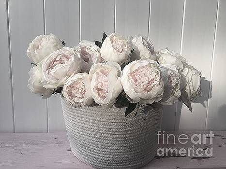 Delicate Soft Peonies by Jeannie Rhode