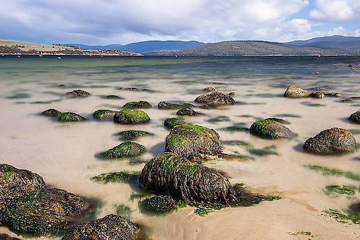 Dennes Point beach located on Bruny Island in Tasmania. by Rob D