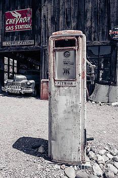 Desert Gas Station Chevron by Edward Fielding