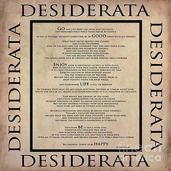 Desiderata - English - poem by Max Ehrmann by Claudia Ellis