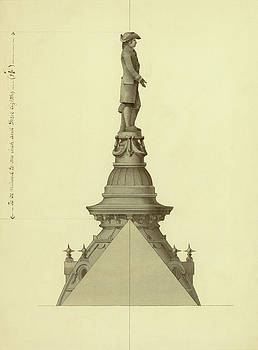 Design For City Hall Tower by Thomas Ustick Walter