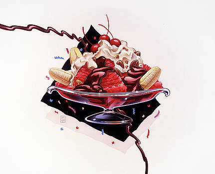Dessert Banana Split by Garth Glazier