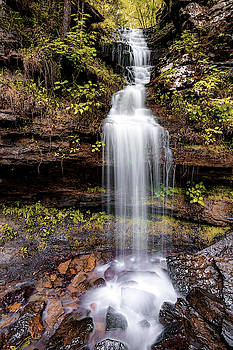Devils Den State Park Twin Falls Left - Ozark Mountains by Gregory Ballos