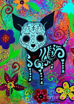 Dia De Los Muertos Chihuahua Love by Pristine Cartera Turkus
