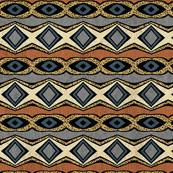 Diamond and Eye Motif with Leopard Accent by Sand And Chi