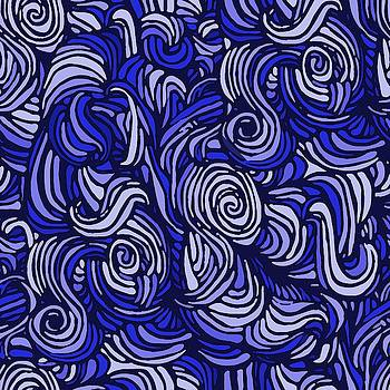 Different shades of blue Abstract by Gabriella Weninger - David