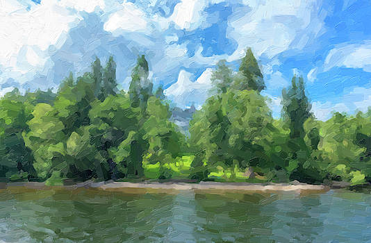 Digital drawing of Lake Titisee in Germany by Vicen Fotografia