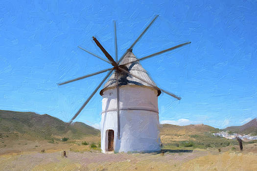 Digital painting of a windmill by Vicen Photography