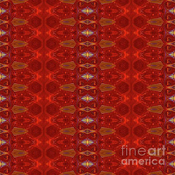 Omaste Witkowski - Patterns Colorful - Ruby Red Modern Pattern - by Omaste Witkowski