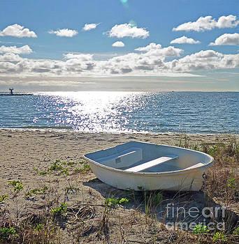 Sharon Williams Eng - Dinghy on a Sunny Beach