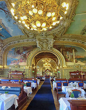 Dinig Room At Le Train Bleu by Dave Mills