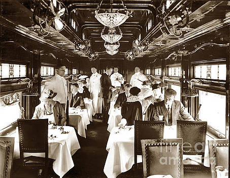 California Views Archives Mr Pat Hathaway Archives - Dining car on California Limited passenger train of the Atchison