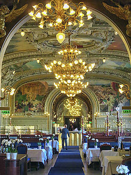 Dining Room at Le Train Bleu by Dave Mills