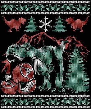 Dinosaur Christmas Meat Eating Dino Gift by Festivalshirt
