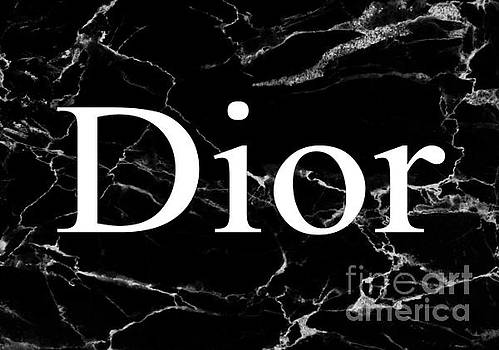 Dior Black White Marble 2 by Del Art
