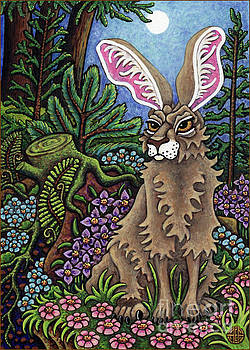 Amy E Fraser - Disgruntled Woodland Hare