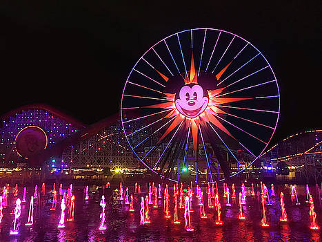 Disney World Ferris Wheel Night View by Art Spectrum