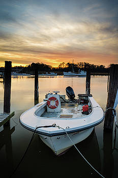 Docked at Sunset by Mike O'Shell