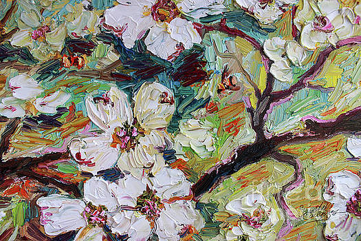 Ginette Callaway - Dogwood Blossoms Oil Painting