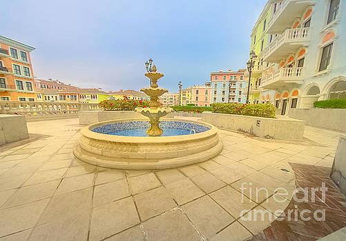 Doha Qanat Quartier Fountain by Benny Marty