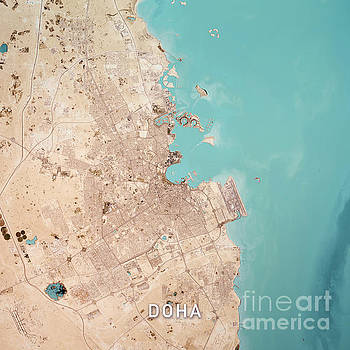 Frank Ramspott - Doha Qatar 3D Render Topo Top View Feb 2019