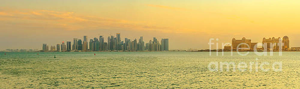 Doha west Bay banner by Benny Marty