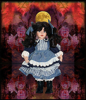 Doll With Roses Under The Moon by Constance Lowery