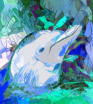 Dolphin Heaven by Abstract Angel Artist Stephen K
