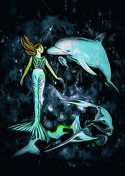 Dolphins Are A Mermaids Best Friend by Bob Orsillo