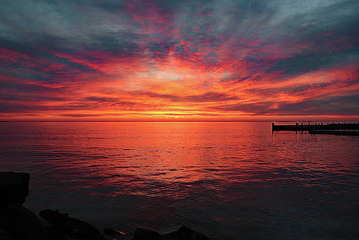 Door County Sunset 2 by David T Wilkinson