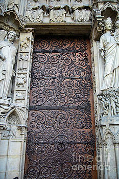 Wayne Moran - Doors Cathedrale Notre Dame De Paris France Before Fire