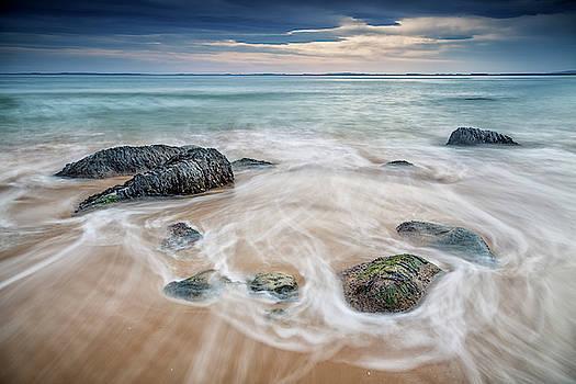 Dornoch Beach Sunrise by John Frid