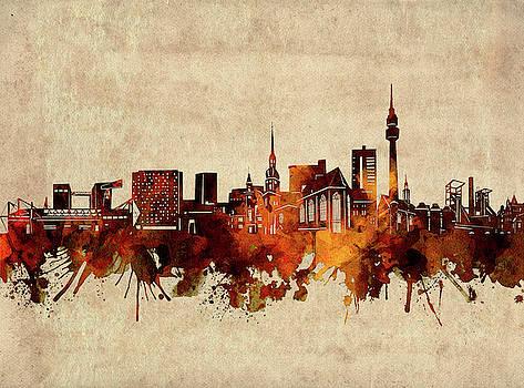 Dortmund Skyline Sepia by Bekim Art