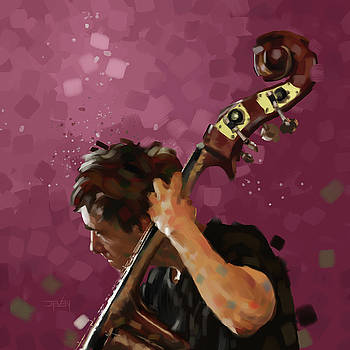Double Bass Player by Steven Thomas Rouse