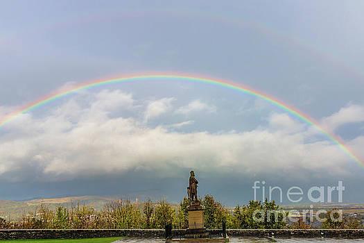 Double Rainbow in Stirling Scotland by Elizabeth Dow