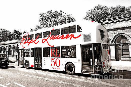 Doubledecker London Bus with Ralph Lauren Artwork BW by Nidhin Nishanth
