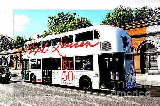 Doubledecker London Bus with Ralph Lauren Artwork Color BW by Nidhin Nishanth