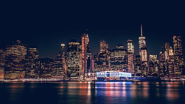 Downtown at Night by Dheeraj Mutha