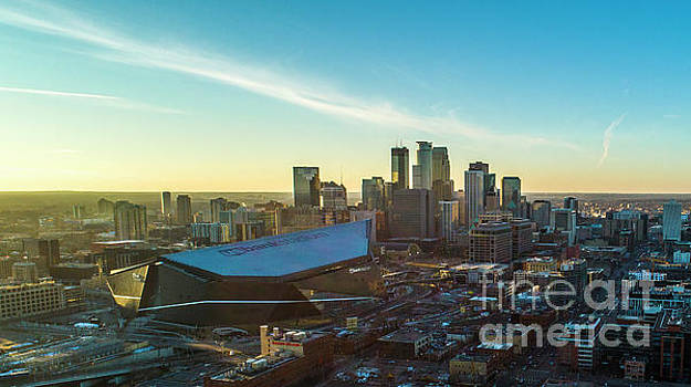 Downtown Minneapolis Skyline US Bank Stadium by Pictures Over Stillwater