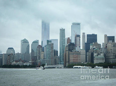 Downtown New York City by Judy Hall-Folde
