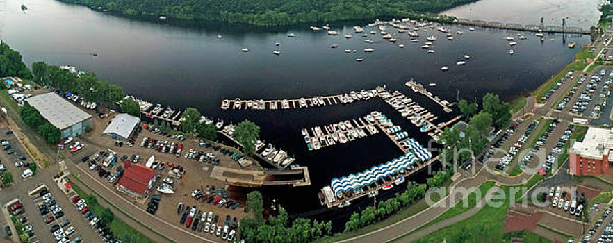 Downtown Stillwater Boats St Croix River by Pictures Over Stillwater