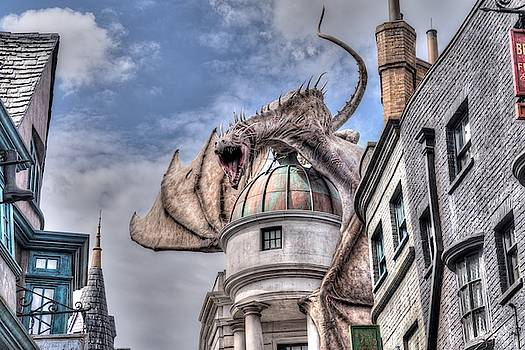 Dragon Over Diagon Alley  by Randy Dyer