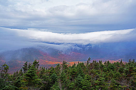 Toby McGuire - Dramatic Clouds From Alonguin Peak Autumn Mountains