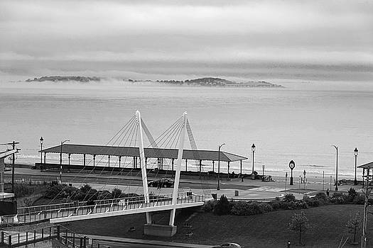 Toby McGuire - Dramatic Fog Over Nahant From Revere Beach Revere MA