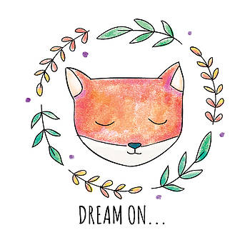 Dream On - Boho Chic Ethnic Nursery Art Poster Print by Dadada Shop