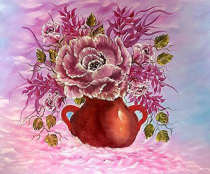 Dreamy floral rose by Angela Whitehouse