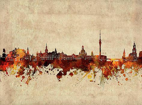 Dresden Skyline Sepia by Bekim Art