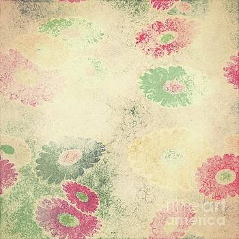 Drifting Daisies Seamless Pattern by Priscilla Wolfe